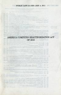 America COMPETES Reauthorization Act Of 2010, Public Law 111-358