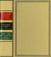 United States Statutes at Large, 111th Congress, 1st Session, Volume 123, (Parts 1-3),  2009