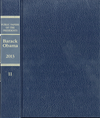 Public Papers of the Presidents, Barack Obama, 2013, Book II, July 1 to December 31, 2013