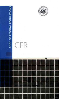 Code of Federal Regulations 2016 (Microfiche Subscriptiion Service)
