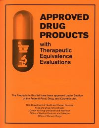 Approved Drug Products With Therapudic Equivalance  38th Edition      2018