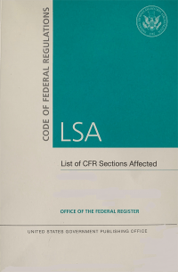Cfr Lsa May 2021; Federal Register Complete