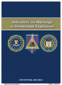 Indicators and Warnings for Home Made Explosives (HME Guide), March 2008 (Package of 5) (TSWG Restricted Controlled Item)