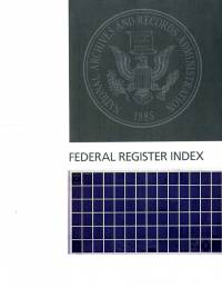 Index #1-189 Jan-sep 2018; Federal Register (microfiche)