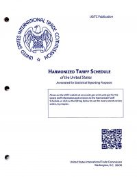 Harmonized Tariff Schedules Of The Annotated For Statistical Reporting Purposed 30th Edition 2018