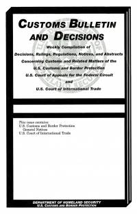 Customs Bulletin and Decisions, V. 43, No. 11, March 12, 2009