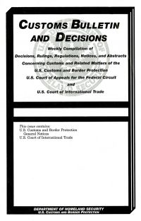 Exporting foreign trade us government bookstore vol 51 41 customs bulletin and decisions fandeluxe Images
