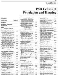 Census of Population and Housing, 1990, Population and Housing Characteristics for Census Tracts and Block Numbering Areas: Pt 1-2