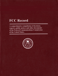 Volume 34 Issue 4; Federal Communications Commission Record