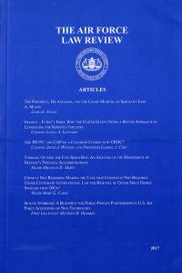 Volume 76 2017; Air Force Law Review