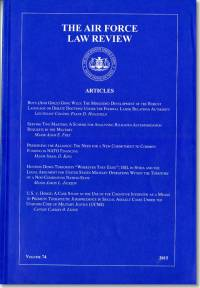 Air Force Law Review, V. 74, 2015