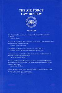 Vol. 79; Air Force Law Review