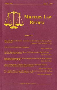 Military Law Review; V 225 issue 1 ,2017