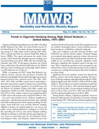 Morbidity and Mortality Weekly Report, V. 51, No. 19, May 17, 2002