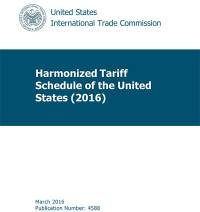 Harmonized Tariff Schedule of the United States, 2016, Basic Manual (CD-ROM)