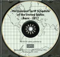 Basic 2017; Harmonized Tariff Schedule On Cd-rom