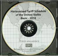 Basic 2018; Harmonized Tariff Schedule On Cd-rom