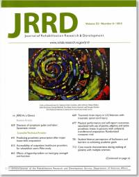 Journal of Rehabilitation Research & Development, V. 52, No. 06, 2015