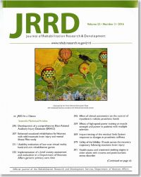 Journal of Rehabilitation Research & Development, V. 53, No. 03, 2016