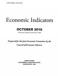 Economic Indicators, October 2016