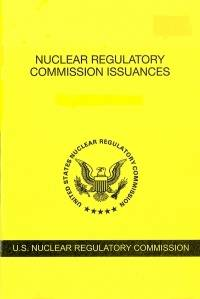 V.88 #3 September 2018; Nuclear Regulatory Commission Issuances  Nureg-0750