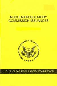 V.89 #1 January 2019; Nuclear Regulatory Commission Issuances  Nureg-0750