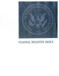 Index Jan-apr Vol 85 #1-84; Federal Register Complete