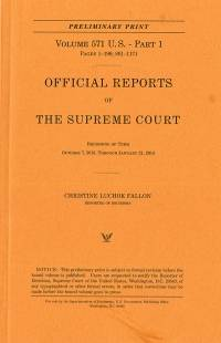V.572 Pt.1; Official Report Of The U.s. Supreme Court Preliminary Reports 2013