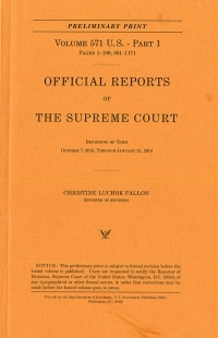 V.574 Pt.1; Official Report Of The U.s. Supreme Court Preliminary Reports 2014