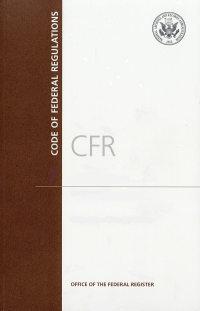 Cfr Title 40 Pt 1000-1059     ; Code Of Federal Regulations(paper)2019(cover Only)