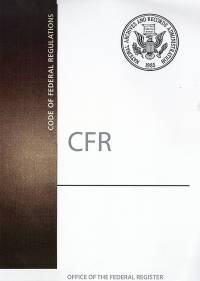 Cfr Index                     ; Code Of Federal Regulations(paper)2019