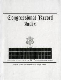 Index #132-153 8/7-9/13 2018; Congressional Record