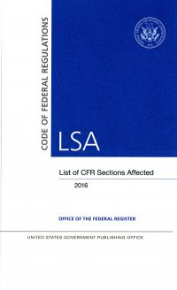 Lsa 2016 March 2016; Federal Register (microfiche)