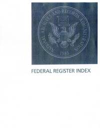 Index Volume 83 #1-231; Federal Register (microfiche)        Jan. Nov. 2018