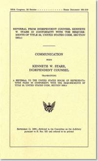 Referral From Independent Counsel Kenneth W. Starr in Conformity With the Requirements of Title 28, United States Code, Section 595(c), September 11, 1998
