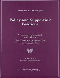 United States Government Policy And Supporting Positions (Plum Book) 2020