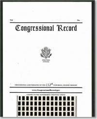 Congressional Record, V. 162, No. 8, January 13, 2016 (Microfiche)