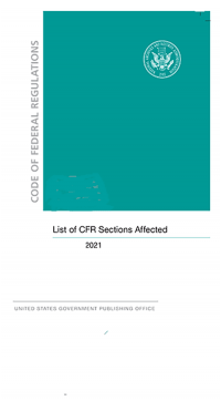 Cfr Title 41 Chapter 102-200  ; Code Of Federal Regulations(2021)