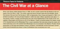 Civil War at a Glance (Package of 100)
