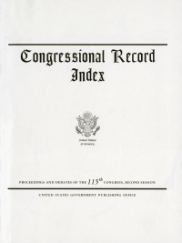 Index 105-124 6/8 To 7/9/20; Congressional Record
