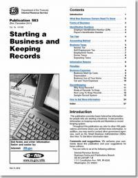 Starting a Business and Keeping Records (Revised January 2015)