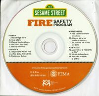 Sesame Street Fire Safety Program (Multimedia CD) (English and Spanish Languages)