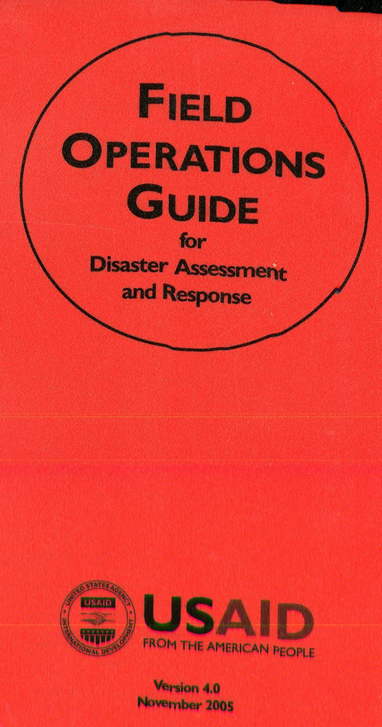 Ebooks us government bookstore field operations guide for disaster assessment and response fandeluxe Gallery