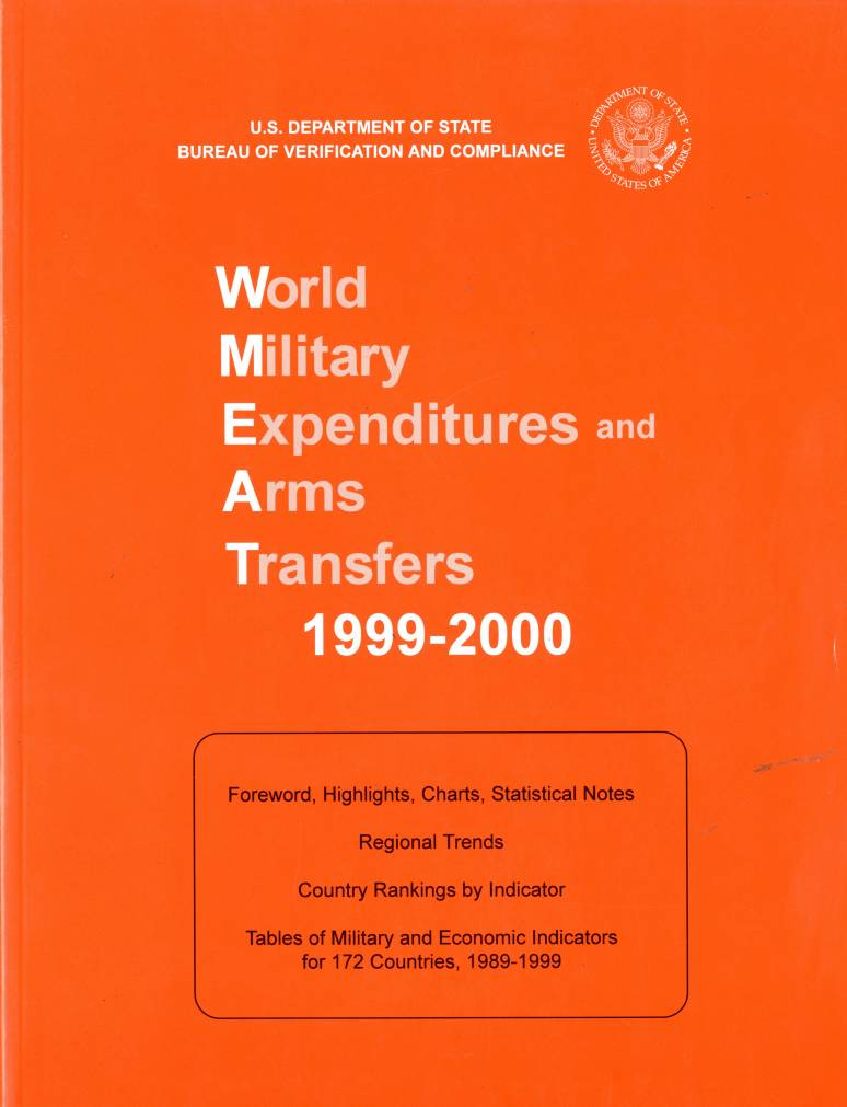 World Military Expenditures and Arms Transfers, 1999-2000.