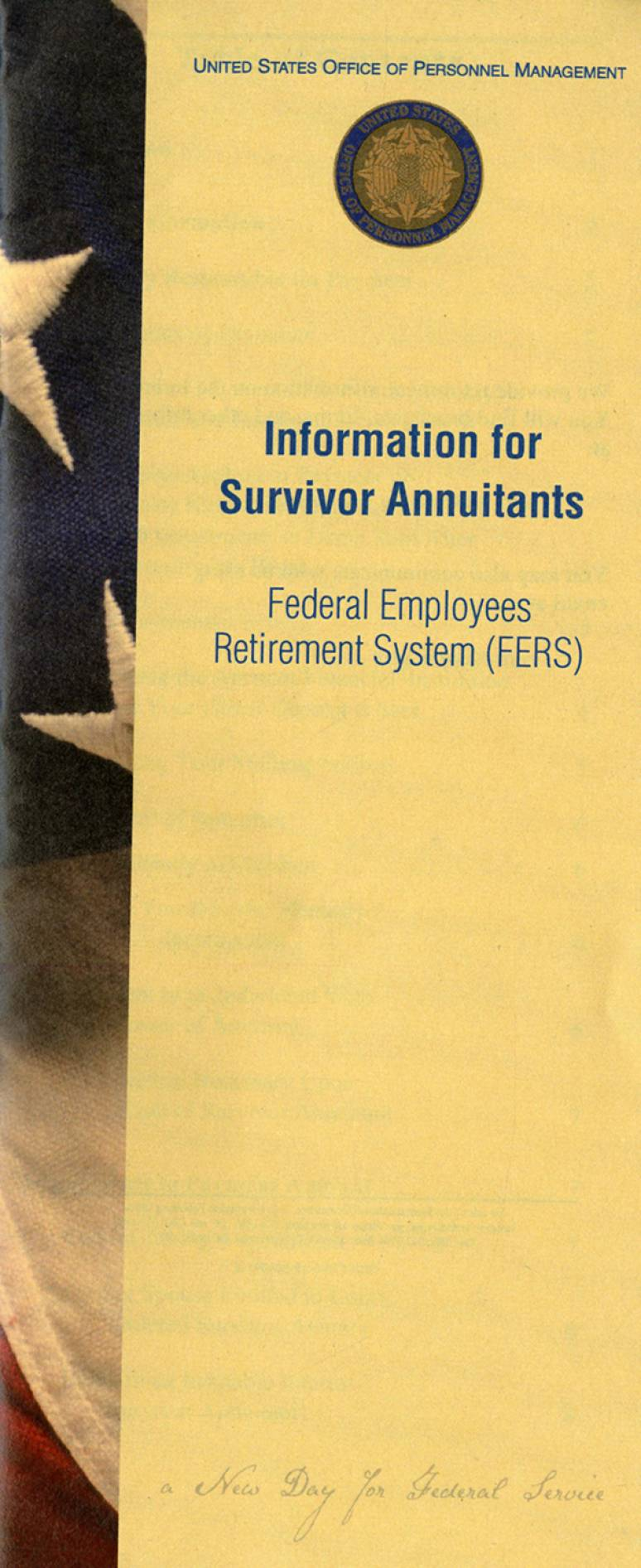 Information for Survivor Annuitants: Federal Employees Retirement System  (FERS)