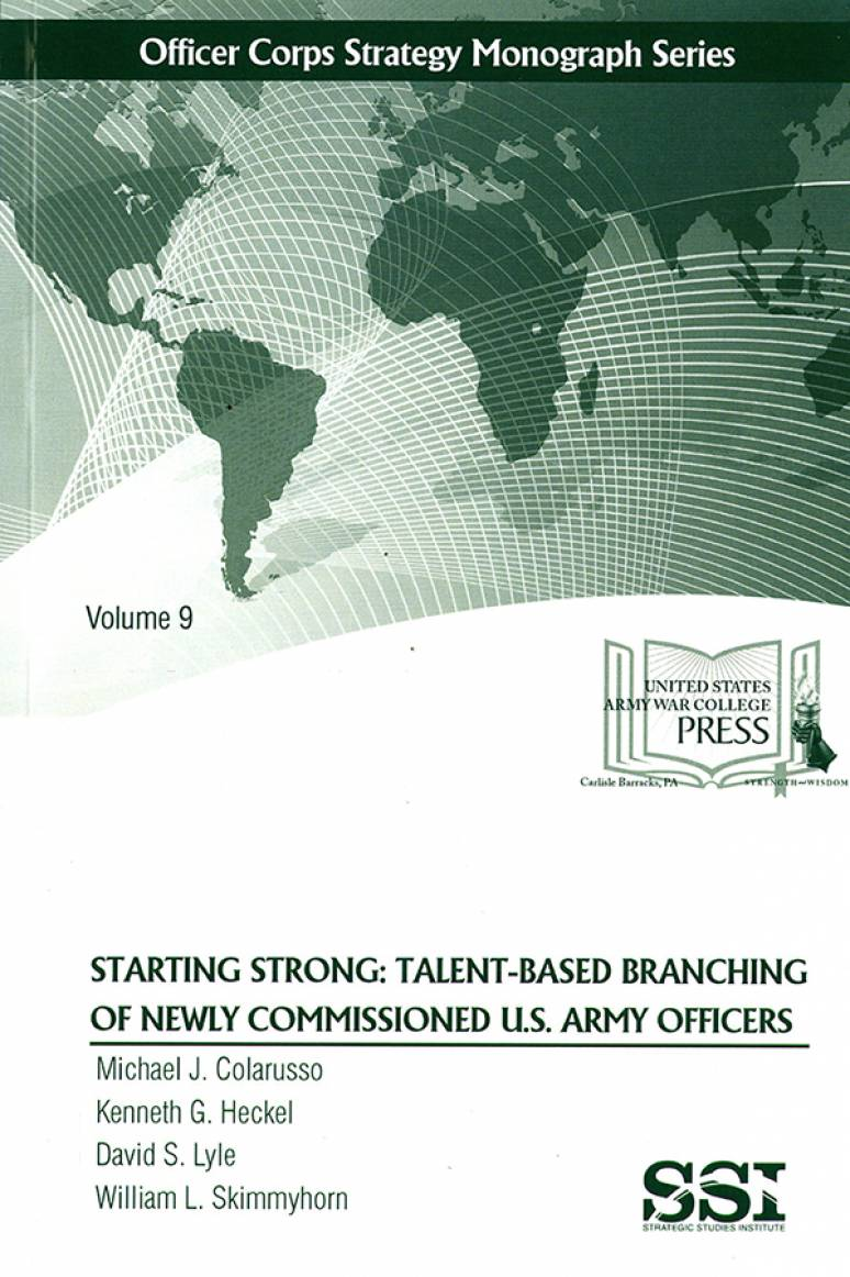 Starting Strong: Talent-Based Branching of Newly Commissioned U.S. Army Officers
