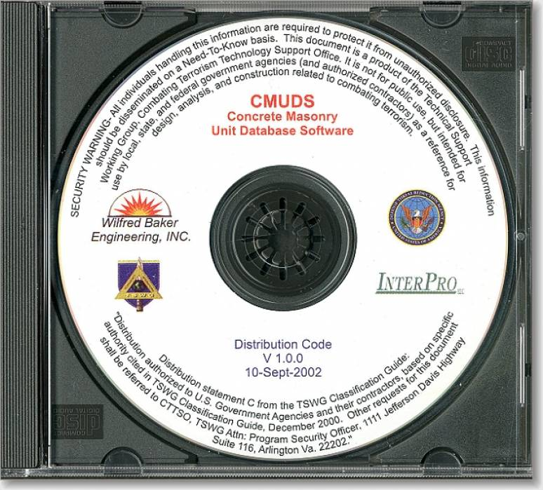 Concrete unit masonry database software cmuds cd rom controlled item u s government - Cd concreet ...
