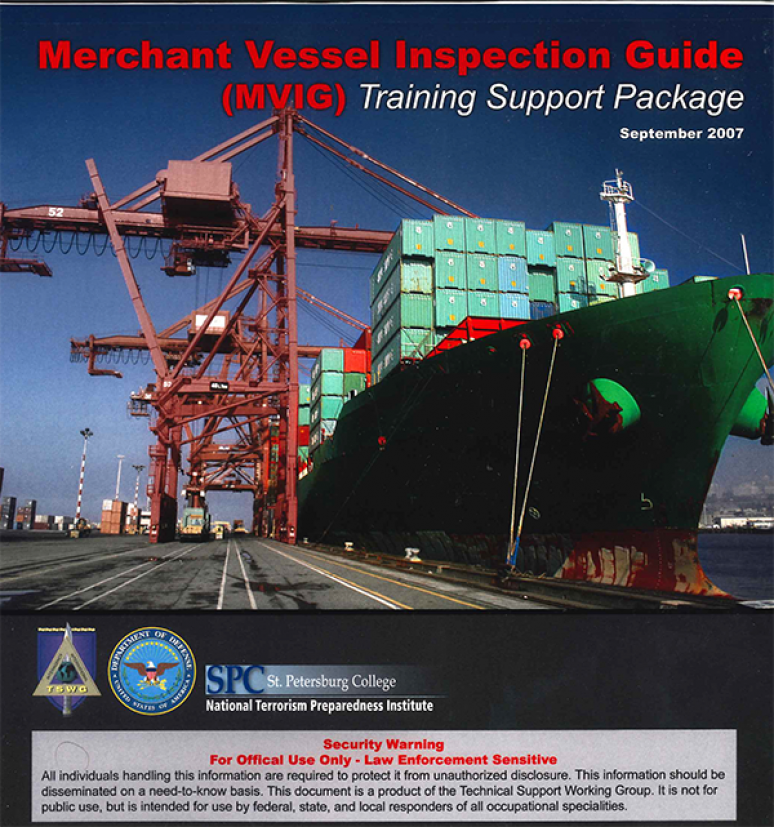 Merchant Vessel Inspection Guide: Training Support Package (Binder With Printed Material, DVD and CD-ROM) (Controlled Item Kit)