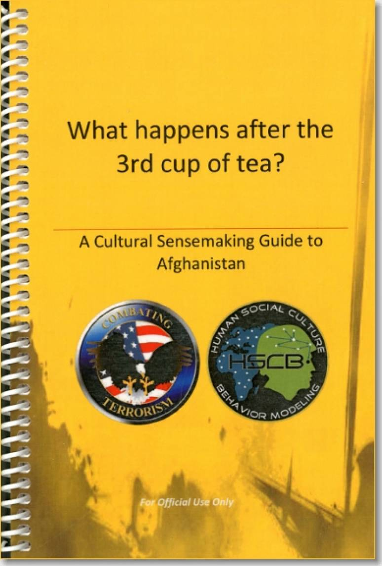 What Happens After the 3rd Cup of Tea: A Cultural Sense Making Guide to Afghanistan (Package of 5) (TSWG Controlled Item)