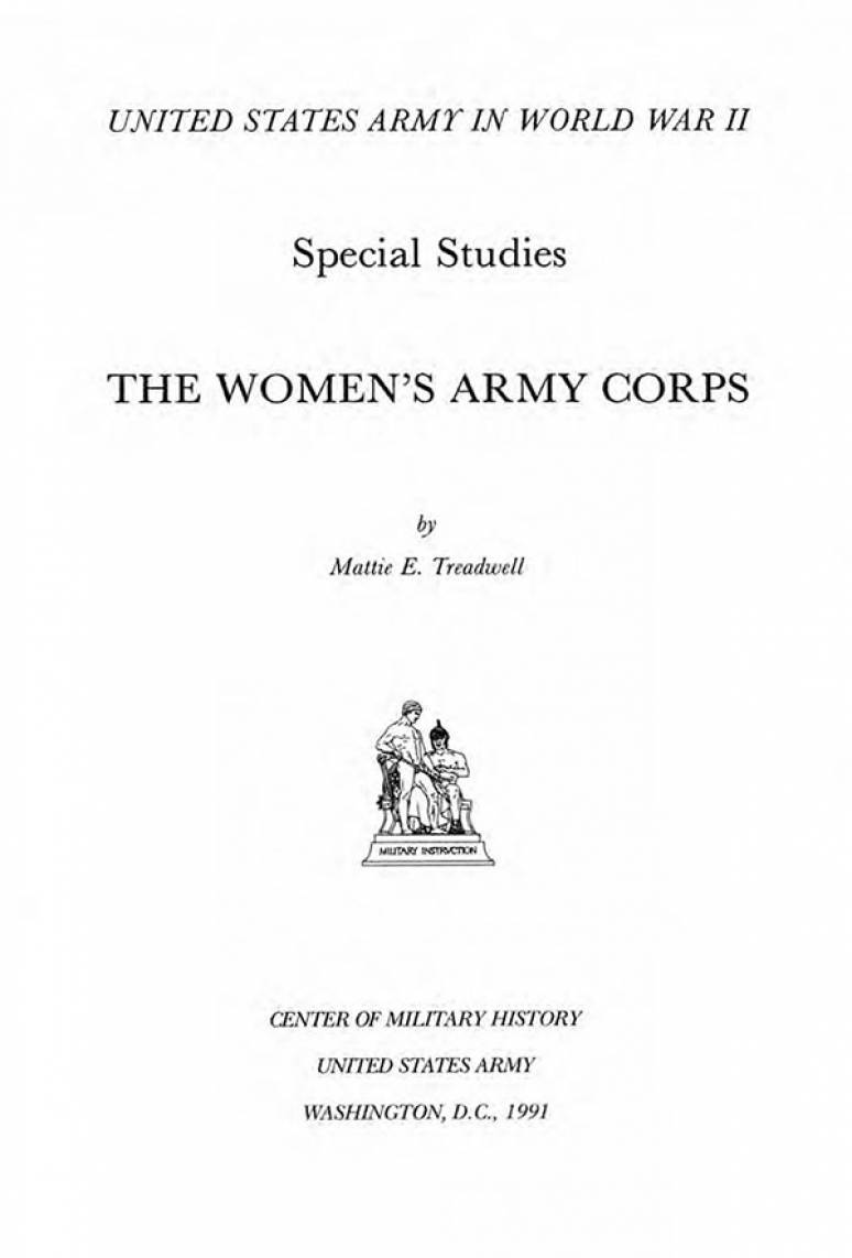 United States Army in World War II: The Women's Army Corps (Hardcover)